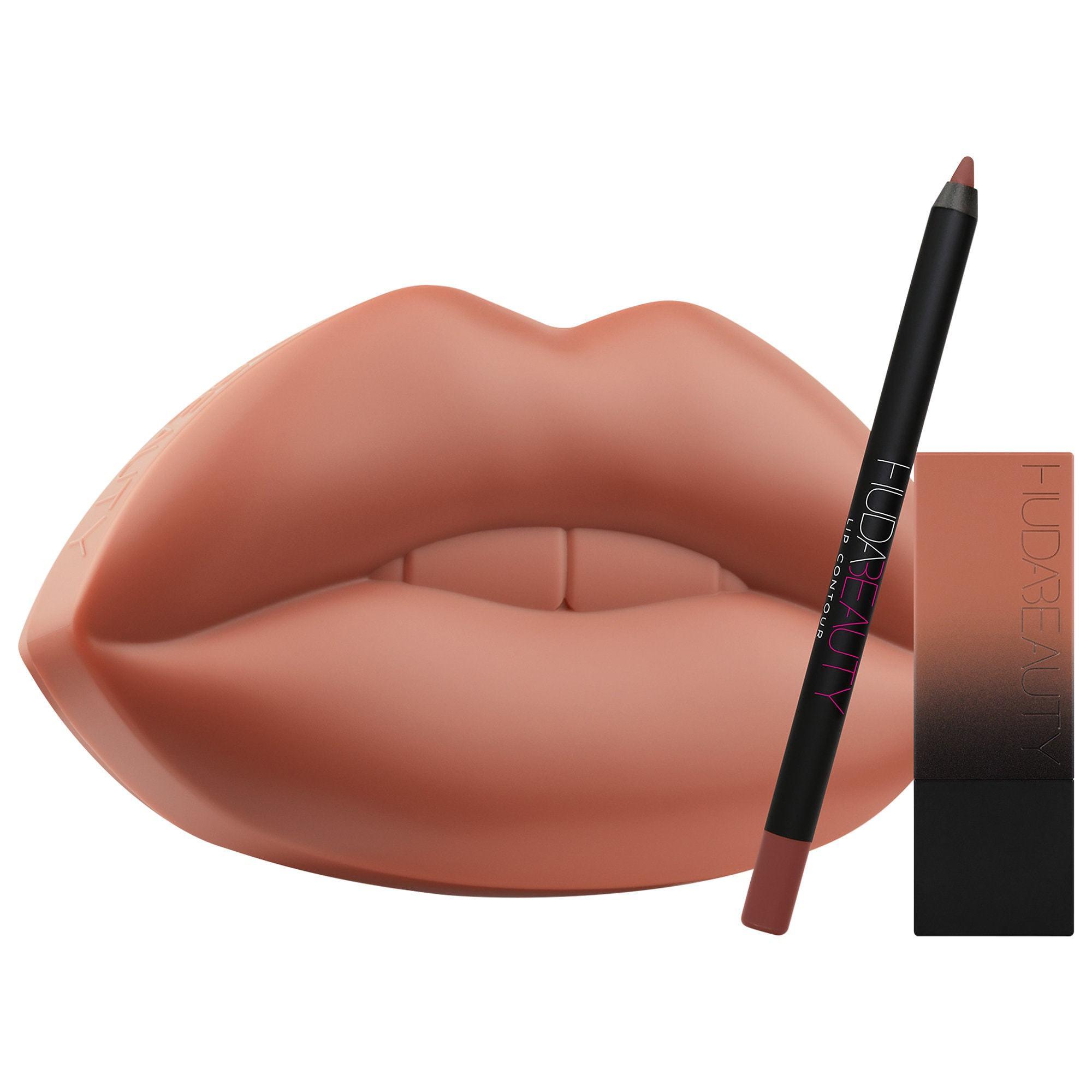 Lipkit con labial y perfilador de Huda Beauty