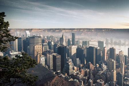 Mezclando Nueva York con El Cañon del Colorado: Espectaculares montajes de Gus Petro