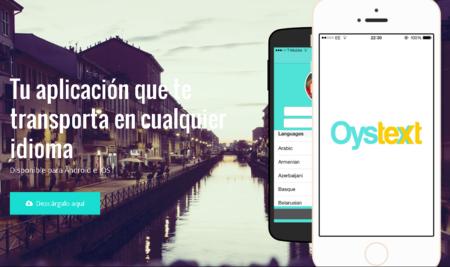 OysText te ayuda a comunicarte con personas que no hablan tu idioma