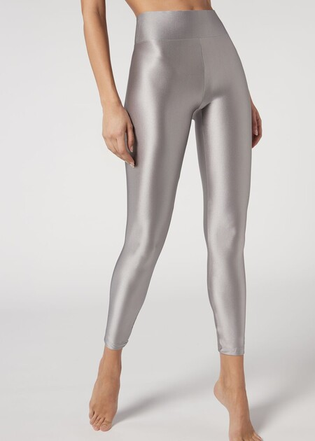 Pantalon Metalizado Dorado Plateado