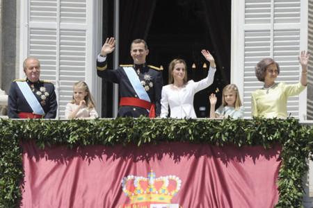 Balcon Felipe VI Letizia Ortiz rey reina