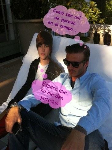 Justin Bieber y David Beckham: hoy por ti, mañana por mí