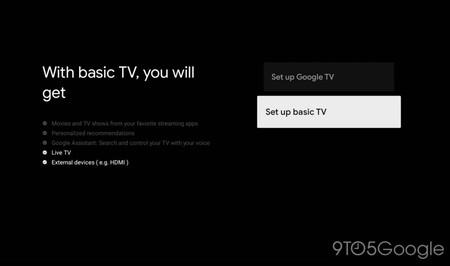 """Google TV permitirá elegir el modo Basic TV al configurar el televisor para que nuestras teles vuelvan a ser """"tontas"""""""