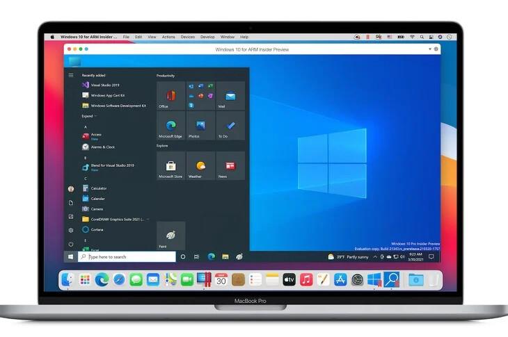 La nueva versión de Parallels Desktop ya puede virtualizar Windows 10 ARM de forma nativa en los Mac M1