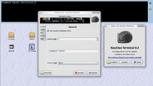 Pon una terminal integrada en Nautilus