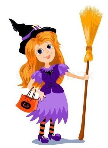 La colada de una bruja para decorar la casa en Halloween
