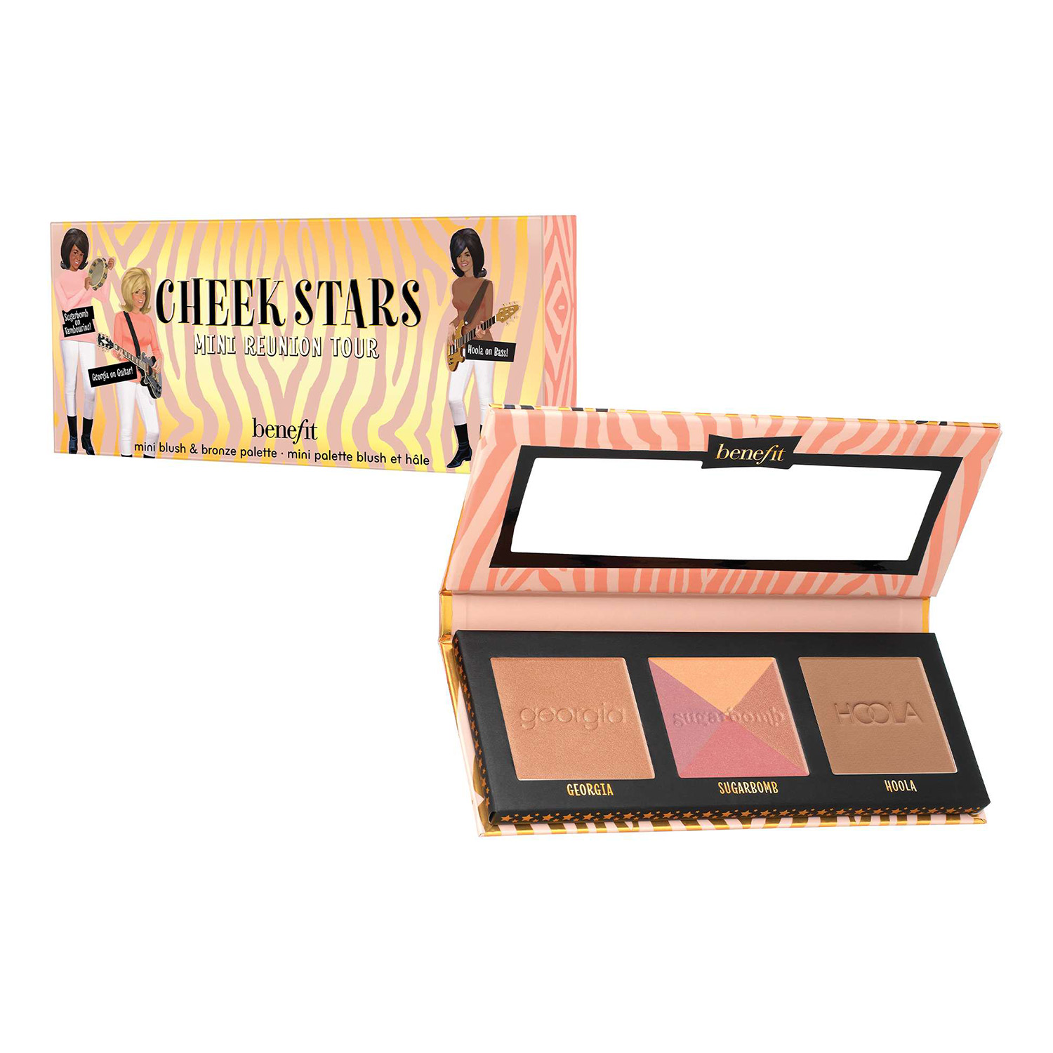 Mini paleta de coloretes, bronceadores e iluminadores Mini Cheek Starts Reunion Tour de Benefit
