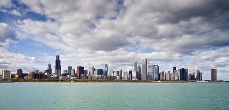 Vista Del Skyline De Chicago Desde El Planetario Illinois Estados Unidos 2012 10 20 Dd 05