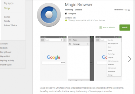 Magic Browser Malware