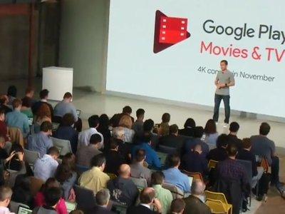 Google Play se pasa a las 4K e incluirá películas y series a esta resolución en noviembre