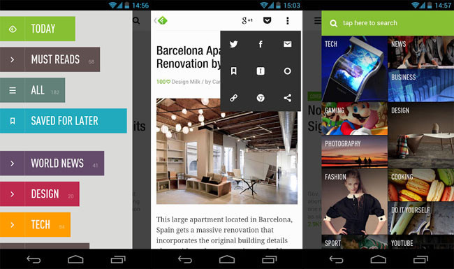Feedly para Android
