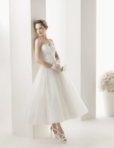 Vestidos de novia de tul cortos
