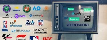 Dónde ver el baloncesto, tenis, motor, fútbol y otros deportes: canales y plataformas que emiten cada competición