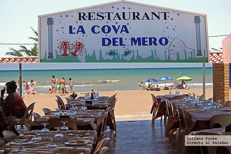 Restaurante Cova del Mero en Denia. Arroces y pescados a pie de playa
