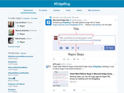 Microsoft crea un sistema para reportar bugs de Edge a través de Twitter