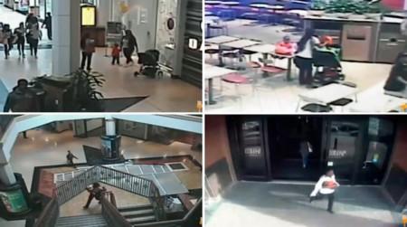 El increíble robo de un bebé captado por las cámaras de seguridad de un centro comercial