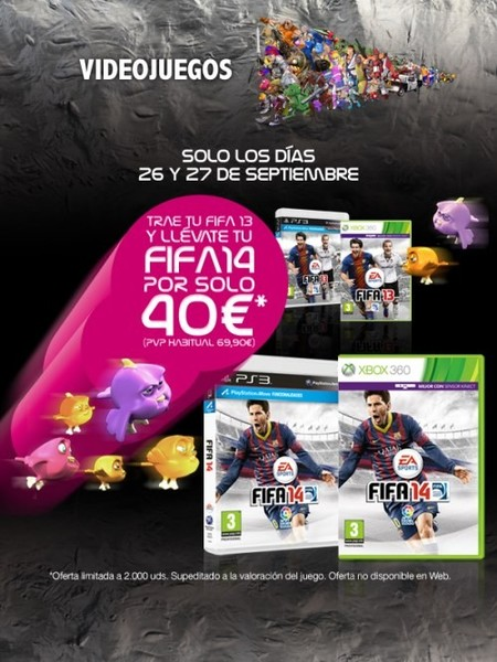"""El Corte Inglés y su """"Cambiazo"""", llévales el FIFA 13 y tendrás el FIFA 14 por ¡40 euros!"""
