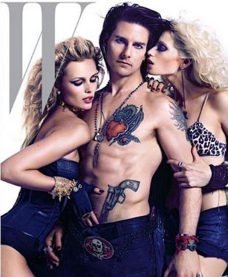 Tom Cruise se pone en plan macarra rockero para la revista W