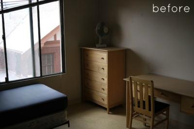 Antes y después: el papel pintado cambia un dormitorio