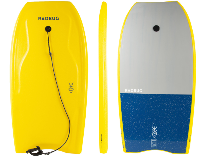 TABLA BODYBOARD 100 AMARILLO CON LEASH MUÑECA