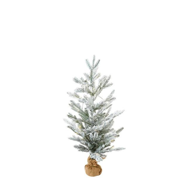 Árbol de sobremesa blanco con luz Navidad El Corte Inglés