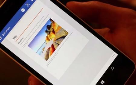 Esta build filtrada de Windows 10 para móviles muestra un adelanto de Office Touch