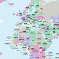 La atracción turística más popular en cada país del mundo según TripAdvisor, en un mapa