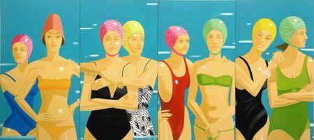 Alex Katz muestra sus bañistas en el Museo Fenosa de La Coruña