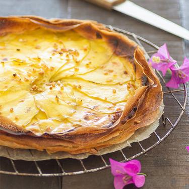 Tarta fina de mango: receta