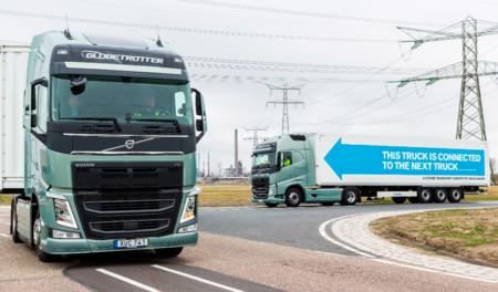 Un pelotón de camiones autónomos ha estado cruzando Europa