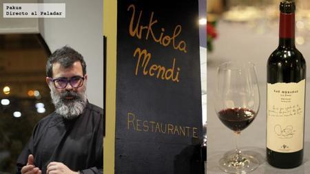 Menú maridado con vinos de Las Moradas en Urkiola Mendi