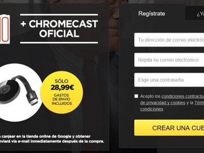 Ahorra 10 euros en tu Chromecast y consigue una película de regalo