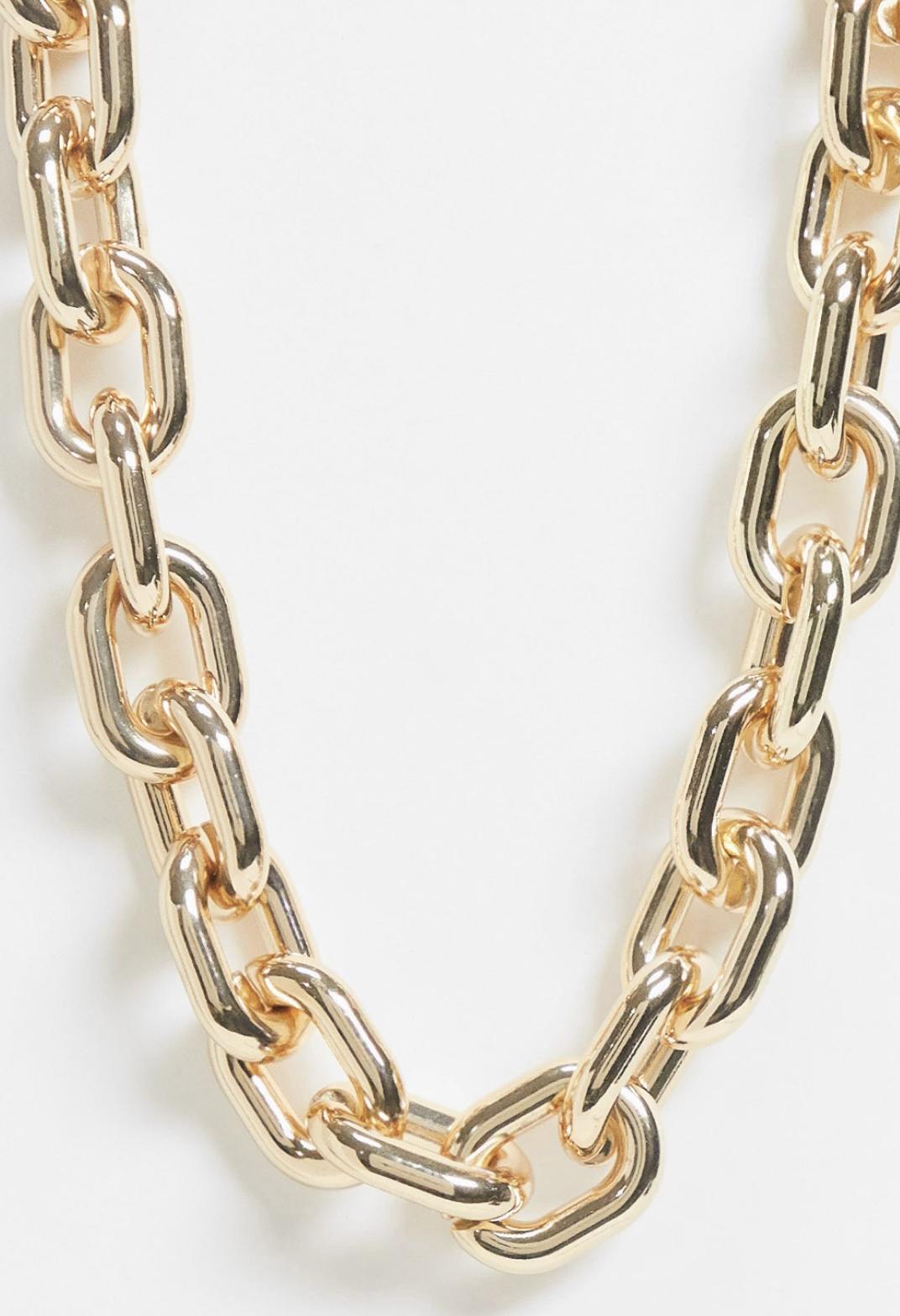 Collar dorado con cadena de eslabones gruesos de ASOS DESIGN Curve