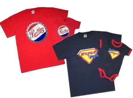 Set de camisetas a juego con el bebé para regalar el Día del Padre