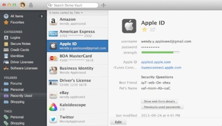 1Password 4 ya disponible para OS X Mountain Lion