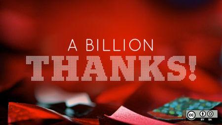 Mil millones de gracias