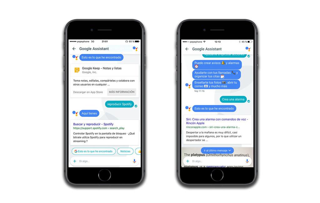Google Assistant, ejemplo de uso