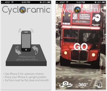 Cycloramic, usos novedosos para la vibración en un iPhone 5