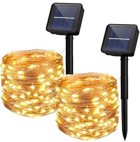 - Guirnaldas de luces LED solares de Amazon, 12,65 euros.