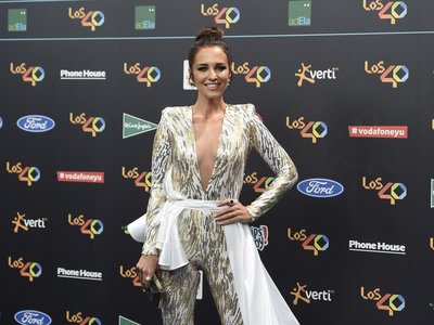 Paula Echevarría hace un Emma Watson en los 40 Principales Music Awards 2017