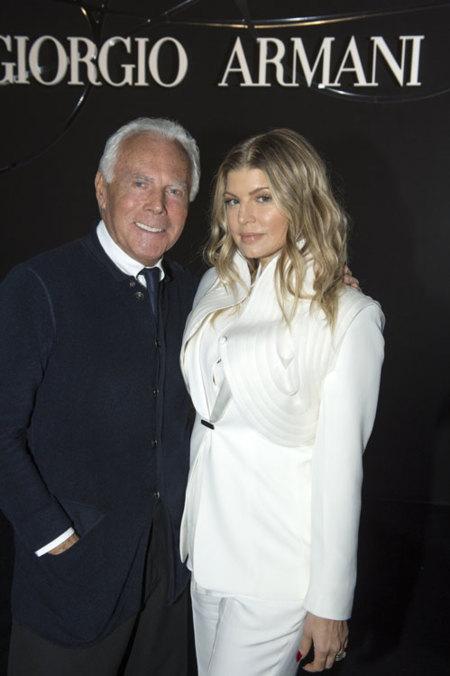 Giorgio Armani y Fergie