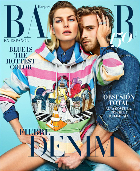 Harpers Bazaar Mexico Cover 2017 Jessica Hart Rj King