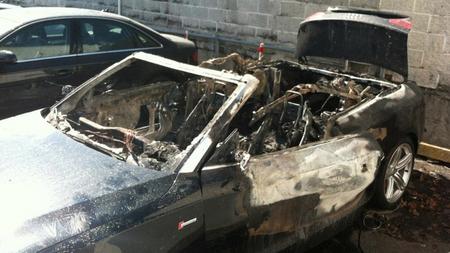 Audi S5 Cabrio incendio