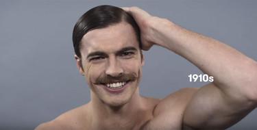 La evolución del hombre: 100 años de belleza masculina en apenas un minuto