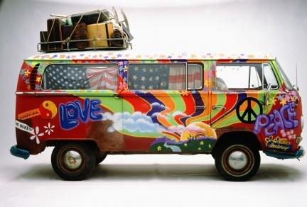 Furgoneta hippy Volkswagen