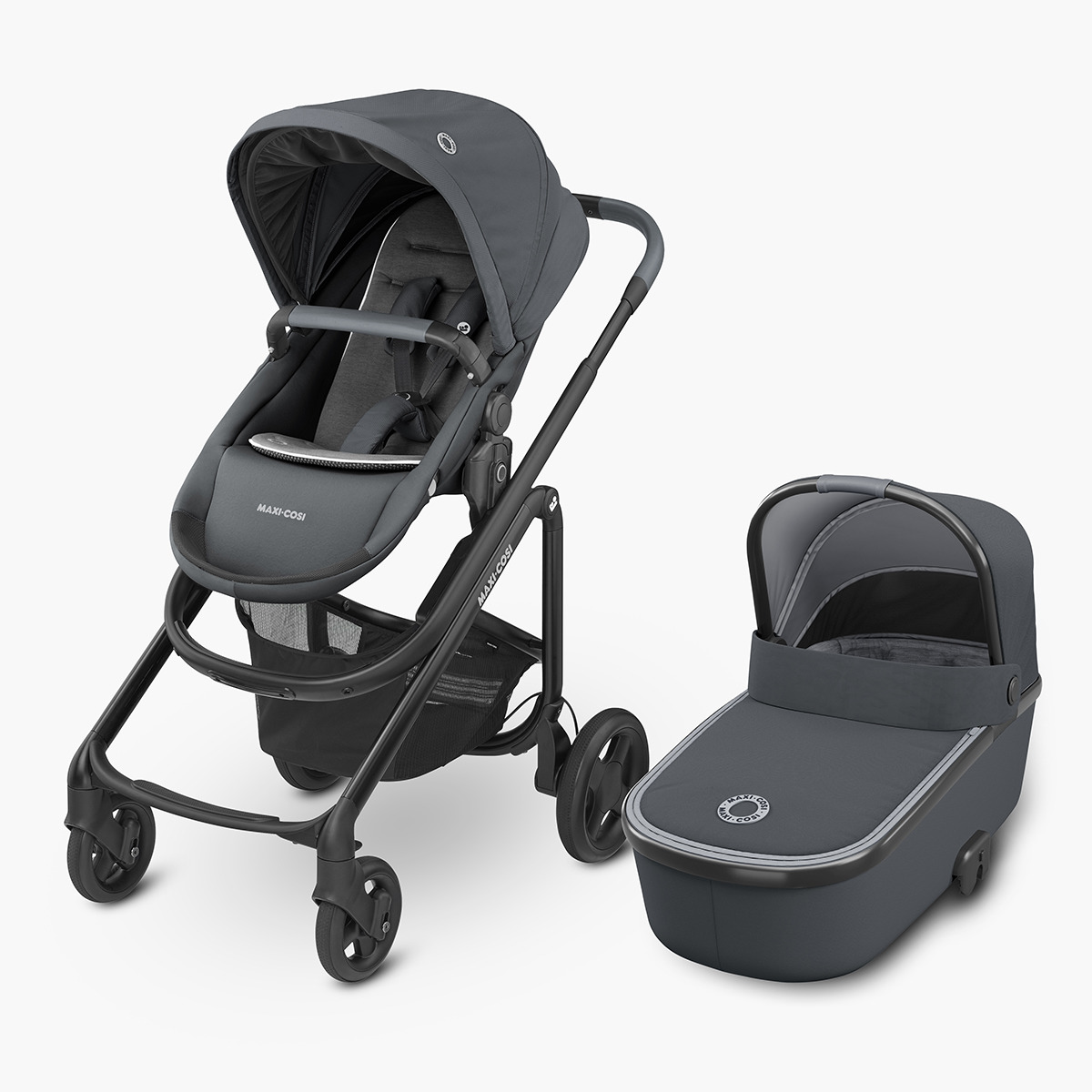 Coche de paseo dúo Maxi-Cosi Lila CP Essential Graphite negro