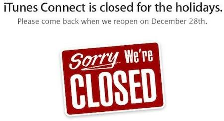 iTunes Connect se cerrará del 21 al 27 de diciembre