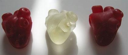 San Valentín: Colgantes anatómicos de corazón