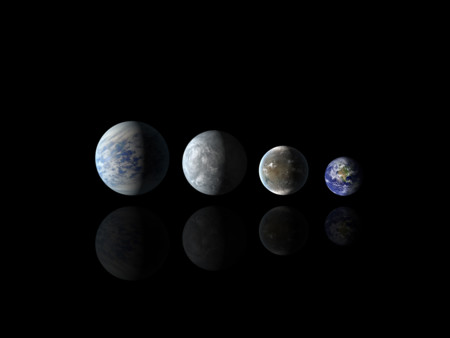 Relative Sizes Of All Of The Habitable Zone Planets Discovered To Date Alongside Earth