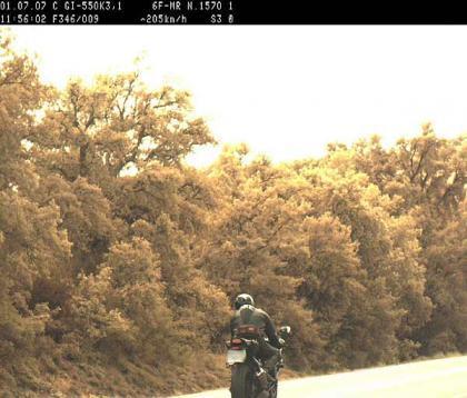 El Jinete Diurno, cazado a 205 Km/h